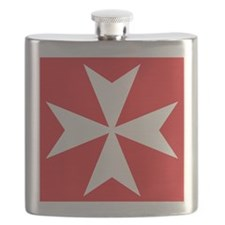 White Maltese Cross Flask