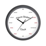 Figure skaters clock