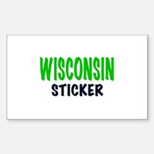 WISCONSIN STICKER, funny Wisconsin gifts. Decal