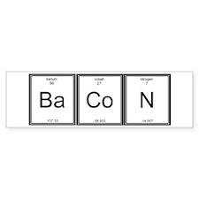 Elemental Bacon Bumper Sticker