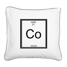 Elemental Bacon Square Canvas Pillow