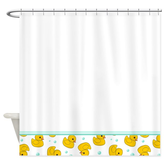 Rubber Ducky Shower Curtain by InspirationzStore