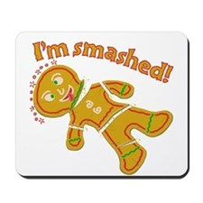 Funny Smashed Gingerbread Christmas Mousepad