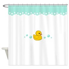 Yellow Rubber Duck Shower Curtain