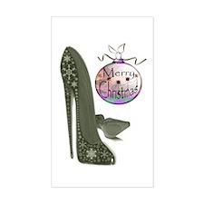 Christmas Stiletto Shoe Art Decal
