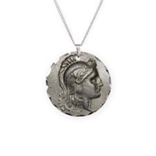 Ancient Coin showing Athena Necklace