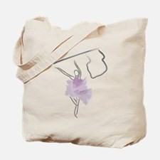 Colorguard Flag Toss Sketch Tote Bag