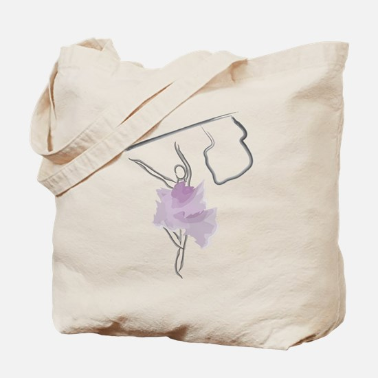 Colorguard Flag Toss Sketch Tote Bag