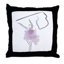 Colorguard Flag Toss Sketch Throw Pillow