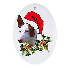 Ibizan Christmas Oval Ornament