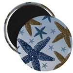 Gold and Blue Starfish Magnet