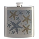 Gold and Blue Starfish Flask