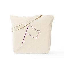 Colorguard Purple Flag Silhouette Tote Bag