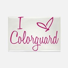 I love Colorguard Rectangle Magnet