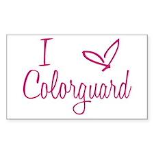 I love Colorguard Decal