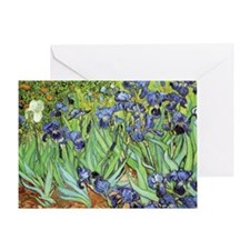 Irises by Vincent van Gogh Blank Greeting Card