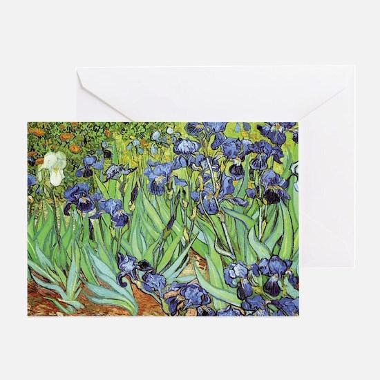 Irises by Vincent van Gogh Blank Greeting Card