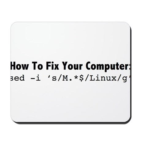 How to fix your computer in one command! Mousepad by