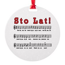 Sto Lat! Song Ornament