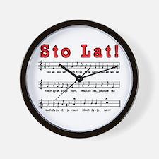 Sto Lat! Song Wall Clock