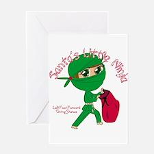 Santas Little Ninja Greeting Card