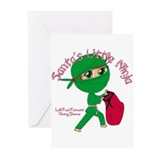 Santas Little Ninja Greeting Cards (Pk of 10)