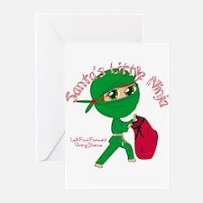 Santas Little Ninja Greeting Cards (Pk of 10)