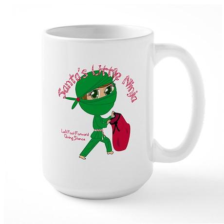 Santas Little Ninja Large Mug