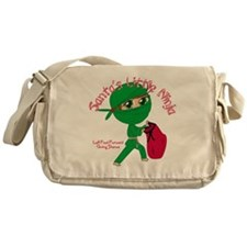 Santas Little Ninja Messenger Bag