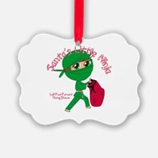 Santas Little Ninja Ornament