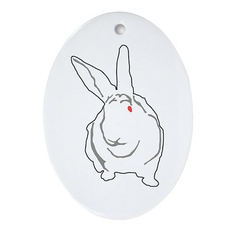 Bunny Oval Ornament