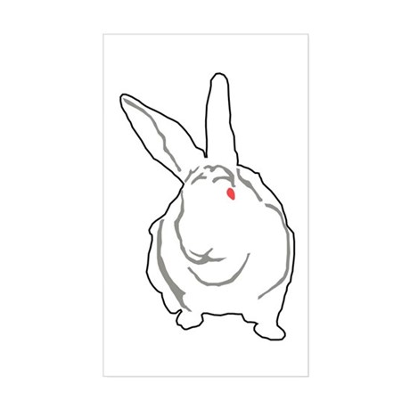 Bunny Rectangle Sticker