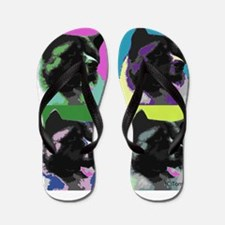 Akita Pop Art Flip Flops