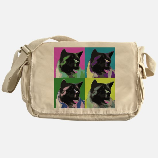 Akita Pop Art Messenger Bag