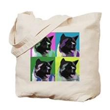 Akita Pop Art Tote Bag