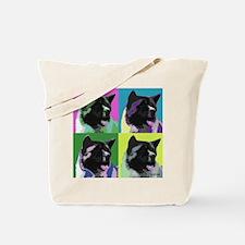 Akita Pop Art Tote Bag