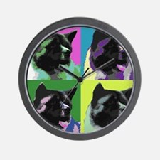 Akita Pop Art Wall Clock
