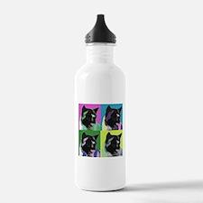 Akita Pop Art Water Bottle