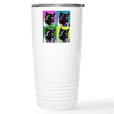 Akita Pop Art Travel Mug