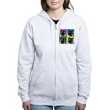 Akita Pop Art Zip Hoodie