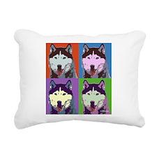 Husky Pop Art Rectangular Canvas Pillow