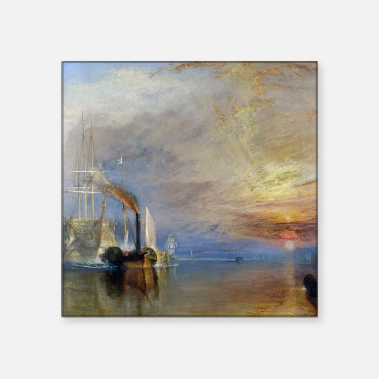 William Turner The Fighting Temeraire Square Stick