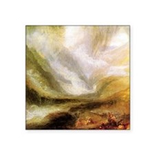 """Turner Snowstorm and Avalanche Square Sticker 3"""" x"""