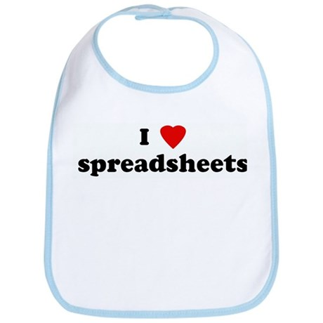 I Love spreadsheets Bib