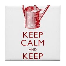 Keep Calm and Keep Gardening Tile Coaster