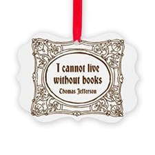 Without Books (brown) Picture Ornament