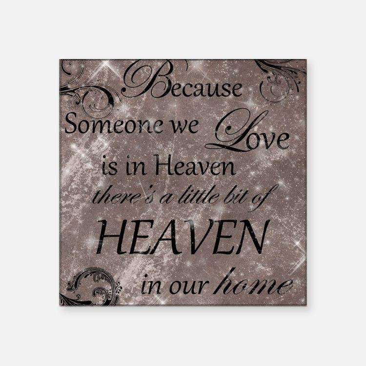 """heaven Square Sticker 3"""" x 3"""""""