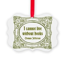 Without Books (green) Picture Ornament