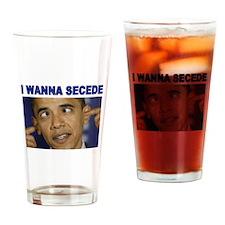 OBAMA CROSSEYED Drinking Glass