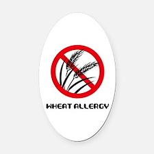 Wheat Allergy Oval Car Magnet